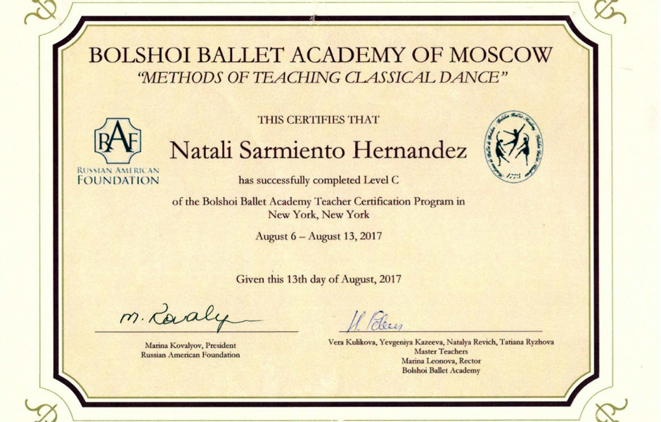 Natali Sarmiento Awards 2